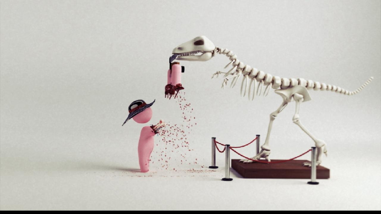Dinosaur blood animation